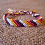 斜め編みミサンガの作り方
